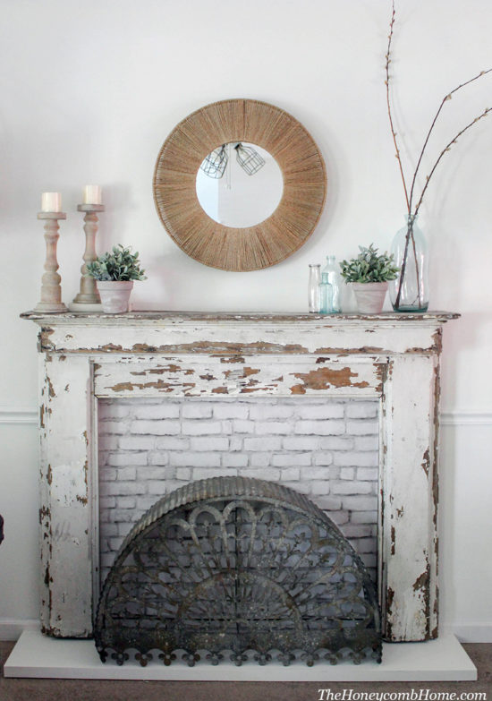 Vintage Mantel DIY THe Honeycomb Home - WM