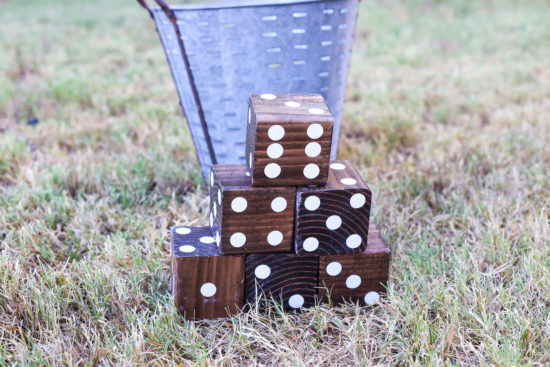 DIY Yard Dice