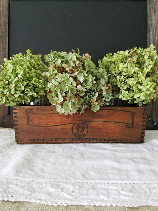 drying hydrangeas for fall harvest decorating