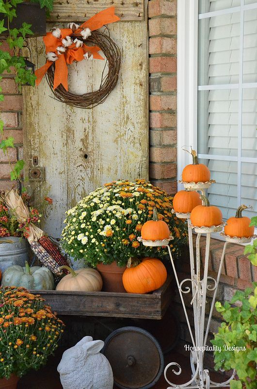 Garden Ideas For Fall Part - 42: Fall Porch Decorating Fall Garden Ideas