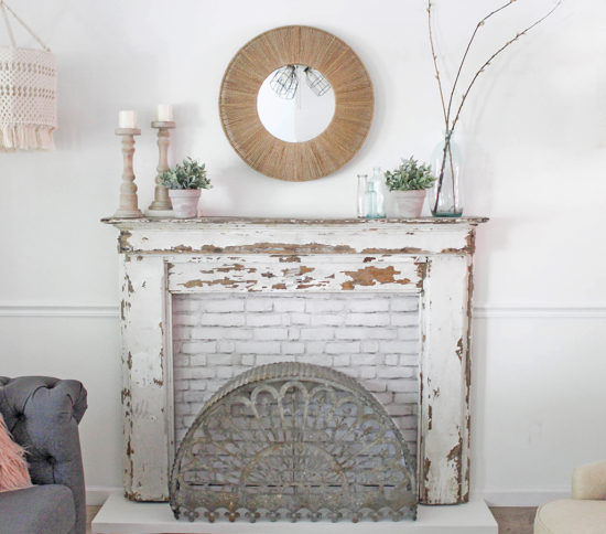 make a vintage mantel the focal point of the room by building a custom surround