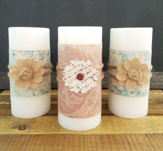 Candle Making, how to make custom candle wraps for seasonal decorating