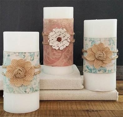 DIY Fall Candle Wraps