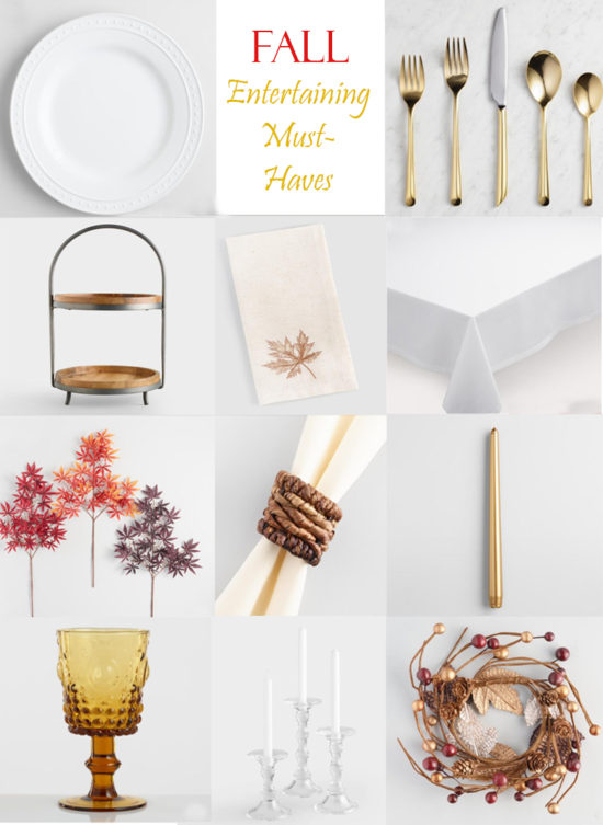 Fall Entertaining must haves, these neutral basics are the perfect foundation for switching out seasonal elements for your tabletop