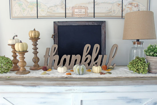 Fall home decor tour thankful