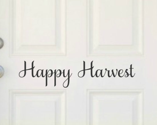 Happy Harvest Thanksgiving door decal
