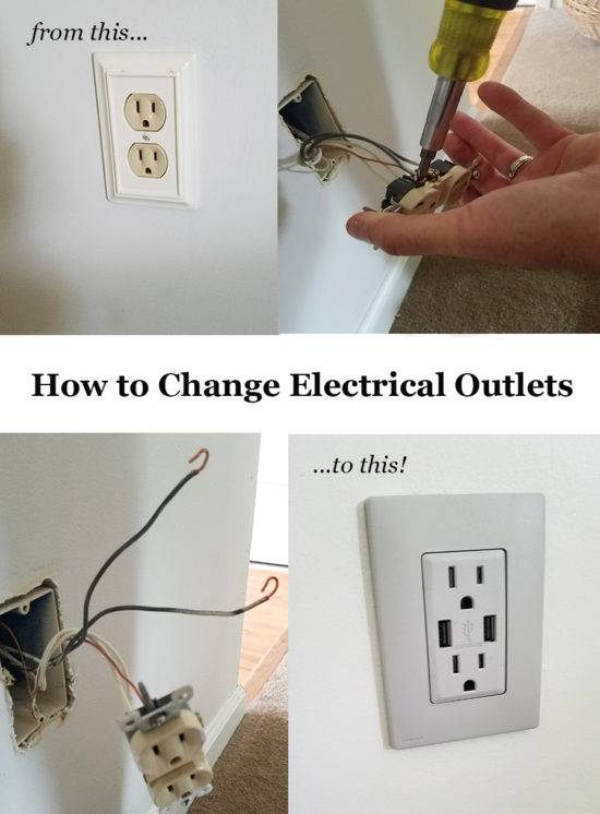 How to change electrical outlets, easy color change outlets with screwless wallplates!!