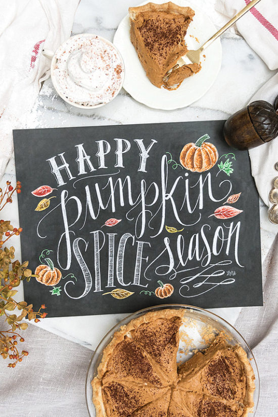 Pumpkin Spice chalkboard Art Etsy - fall decorations