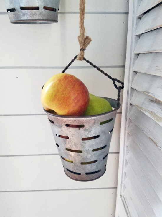 adorable kitchen storage ideas metal olive buckets on pulley