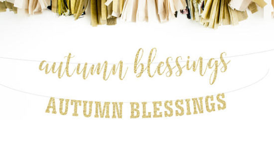 autumn blessings fall thanksgiving banner