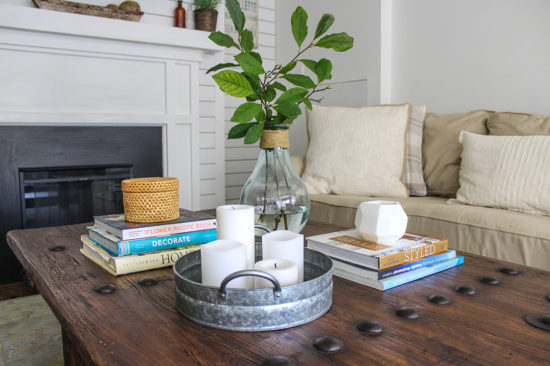 coffee tables- how to style a coffee table