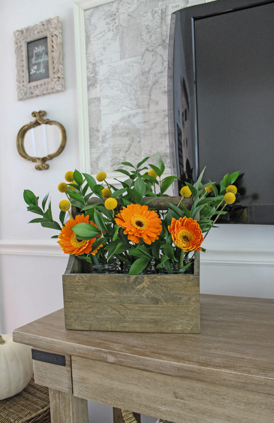 decorating with fall color fall flower arrangements