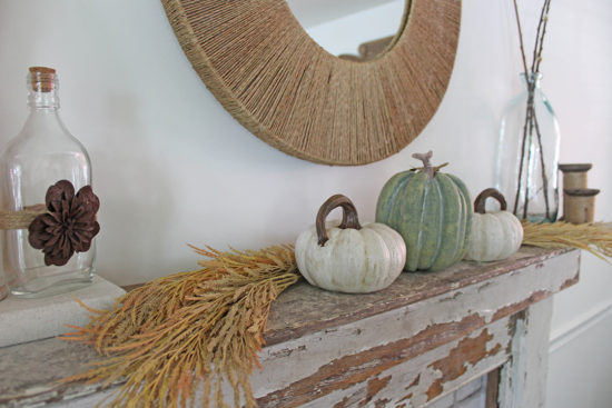 farmhouse fall mantel decor fall home decor home tour