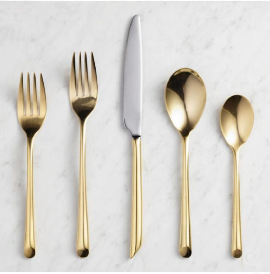 gold flatware world market, entertain ideas for the home