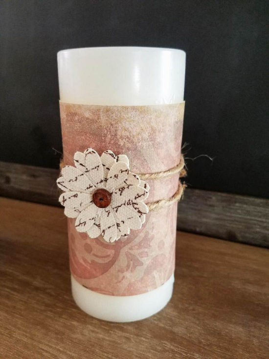 how to make custom candle wraps for seasonal decorating