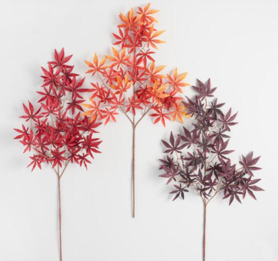 fall entertaining ideas, how to use maple stems in your tabletop decor, tablescapes