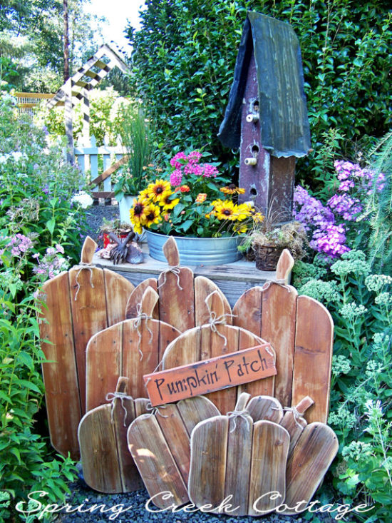 wooden pumpkin patch
