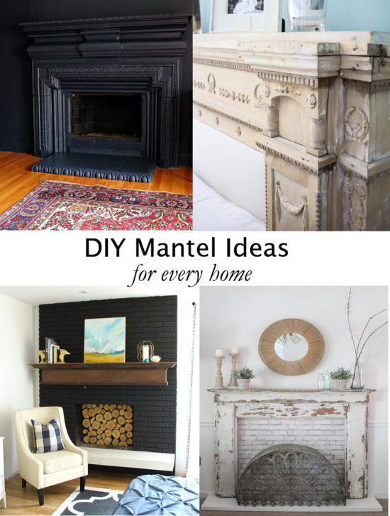 Whether you have an outdated fireplace mantel or no fireplace at all, you will find ideas to inspire here for every situation!