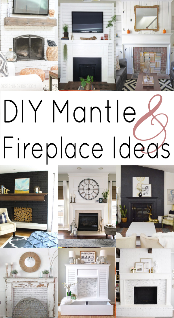 DIY Mantle and Fireplace Ideas