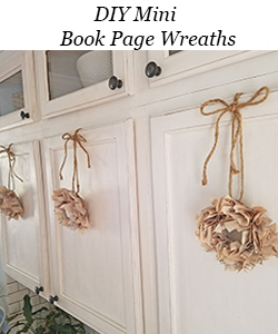 DIY Mini Book Page Wreaths