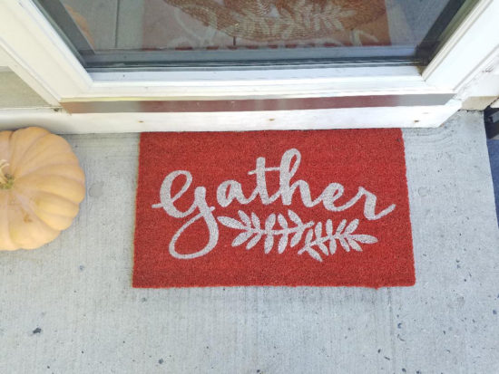 Fall Door Mat, small porch ideas