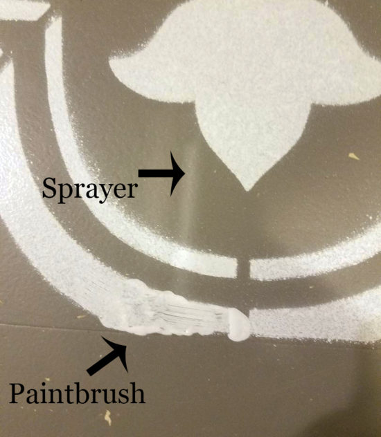 Floors Stenciling paint sprayer Vs Brush