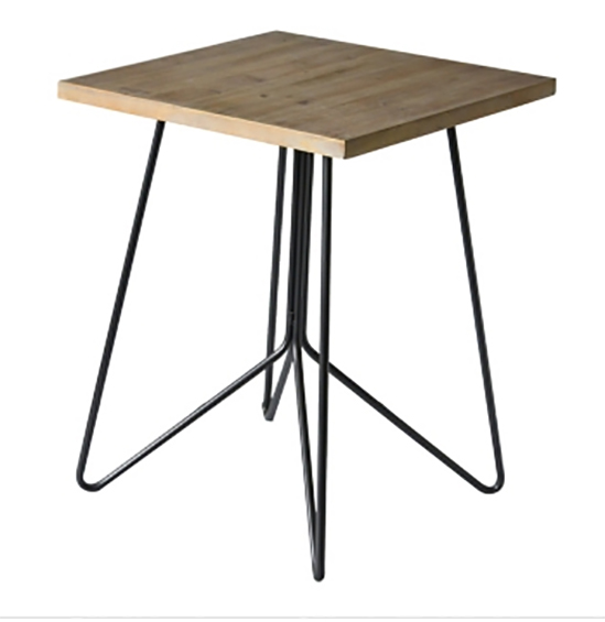 modern ebd table with hairpin legs