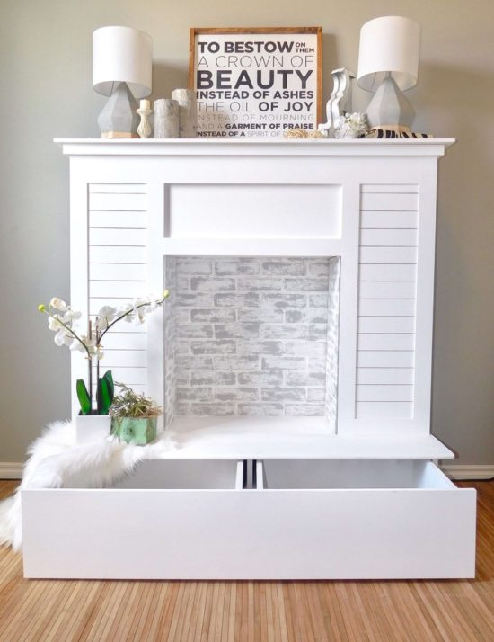 Shiplap_Faux_Fireplace_With hidden storage