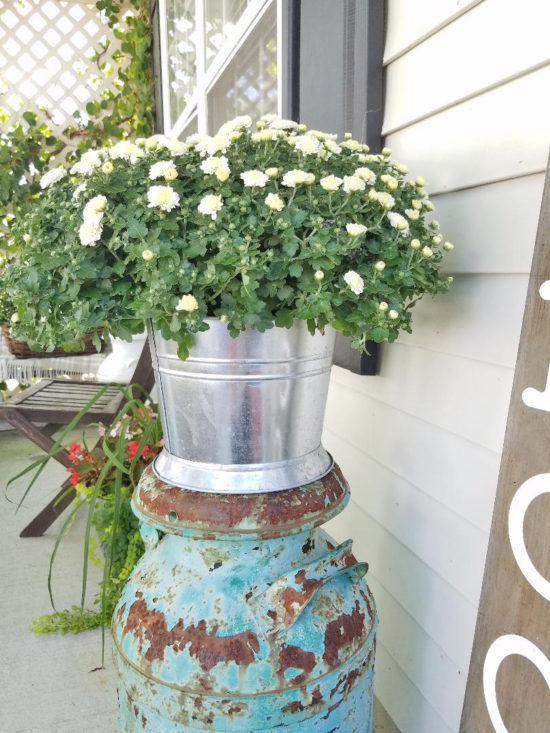 decorating with mums small front porch ideas