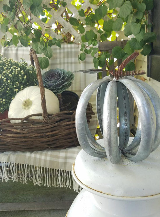 decorating with pumpkins fall front porch with white pumpkins