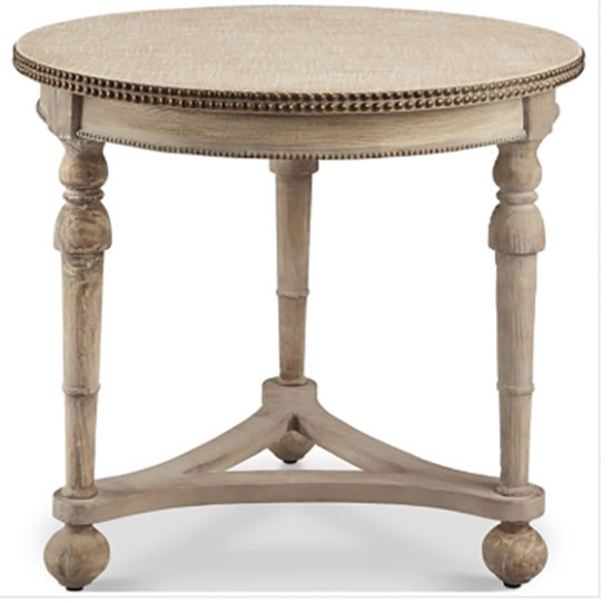 end table with nailhead trim