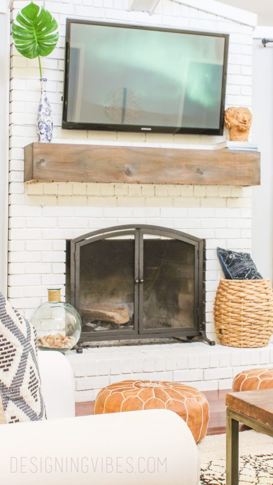 fireplace mantel makeover designing vibes