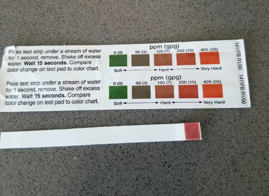 how to test for hard water test strips