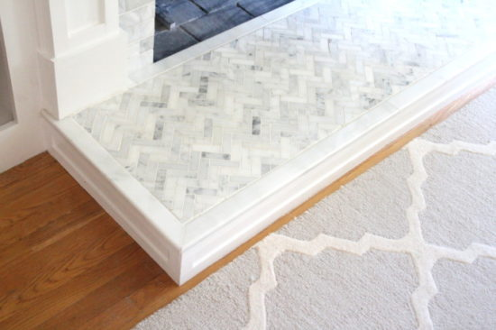 how to tile a fireplace hearth