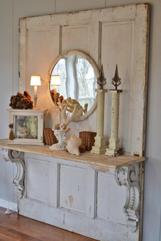 mantel used as a shelf time worn interiors