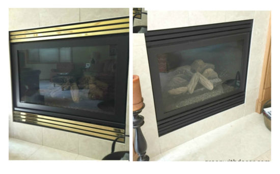 painting a brass fireplace screen
