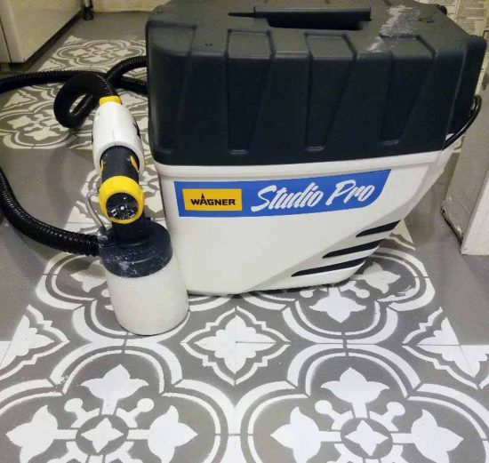wagner paint sprayer stenciled floors