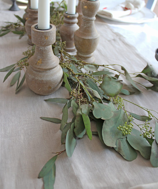 Christmas tablescape rustic