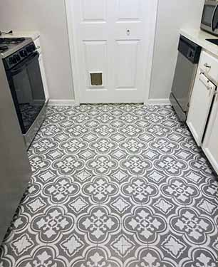 How To Paint Linoleum Flooring The Honeycomb Home