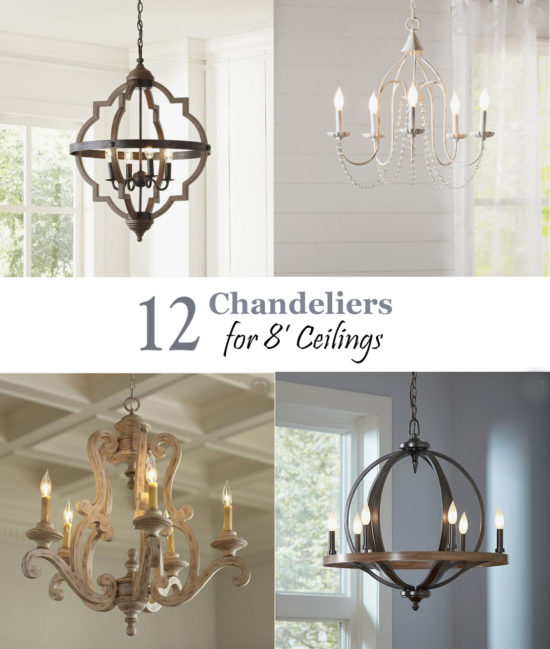 12 Chandeliers for 8' Ceilings Pin