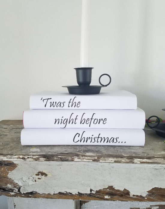 Christmas DIY Book Covers - easy Christmas decorations ideas - White Christmas