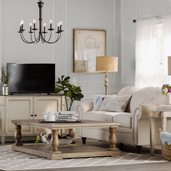 How to hang a chandelier in the living room - wayfair