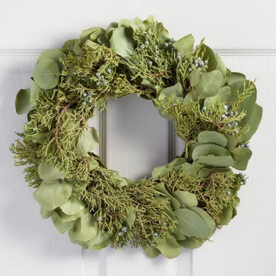 Eucalyptus andJuniper Wreath Gift ideas for the home