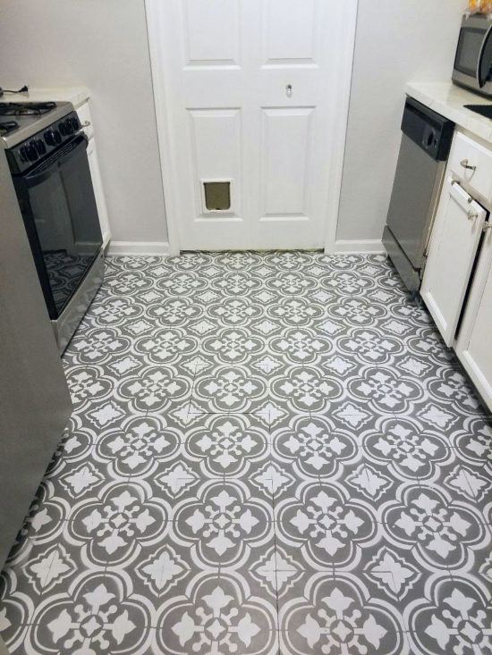How to paint linoleum flooring for Linoleum kitchen flooring