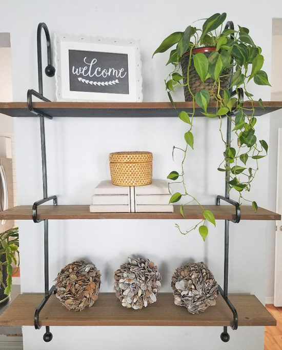 Rustic Wooden Wall Shelves - floating shelves