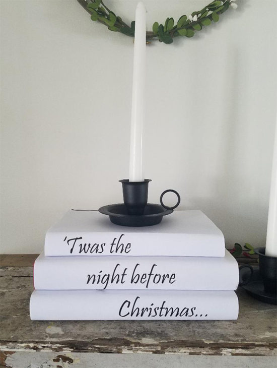Twas the night before Christmas book covers DIY