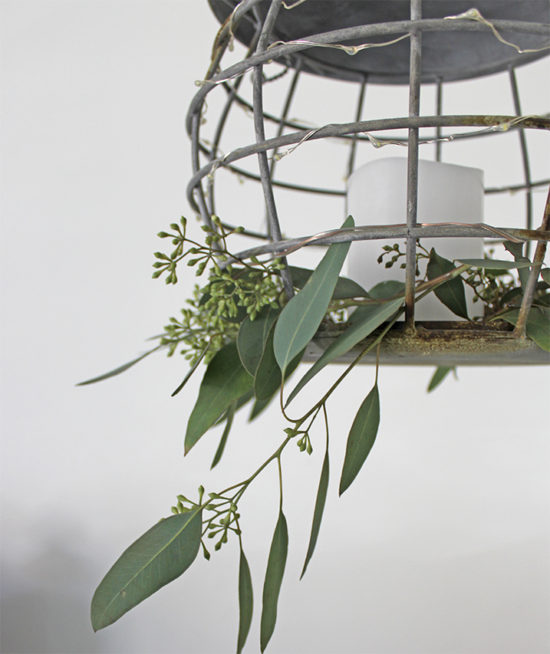 Decorating with eucalyptus for Christmas