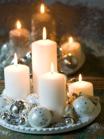 candle and ornament tray