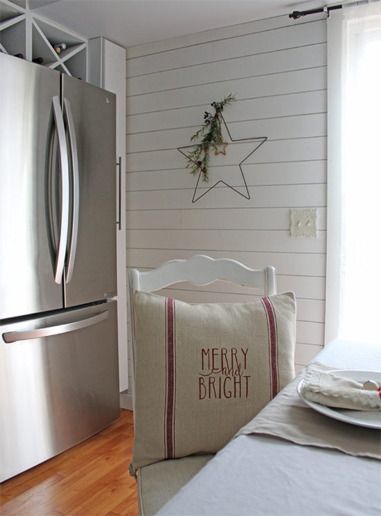 merry and bright Christmas pillow