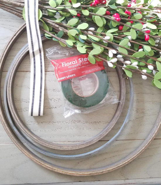 materials needed to make a Christmas wreath-wreath making supplies